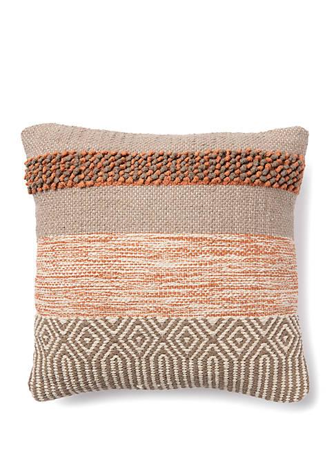 Textured Marled Throw Pillow