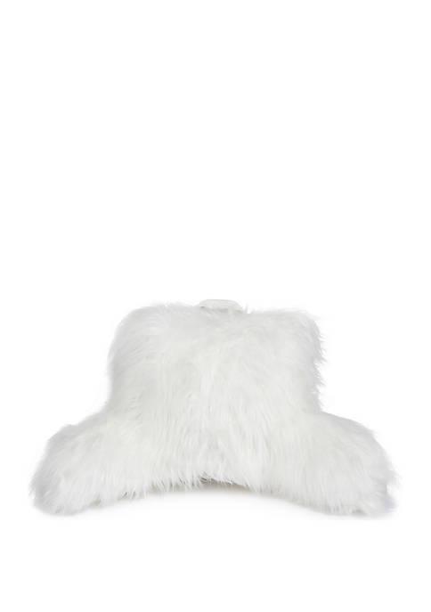 Brentwood Originals Angora Faux Fur Backrest Pillow