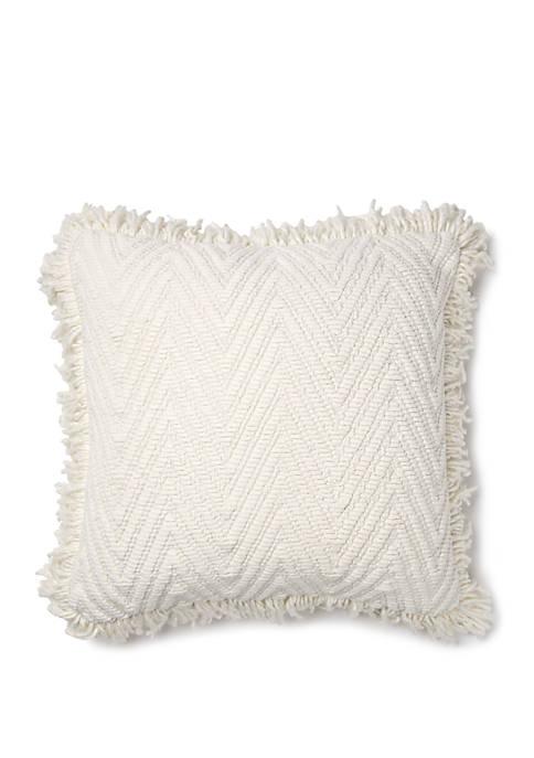 Chenille Chevron Throw Pillow