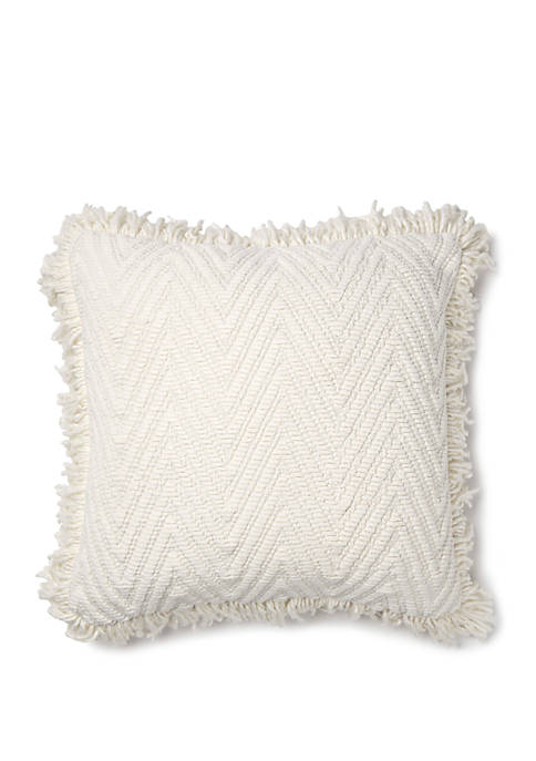 Brentwood Originals Chenille Chevron Throw Pillow
