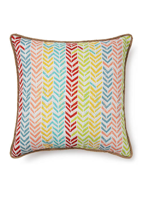 Stripe Arrow Throw Pillow