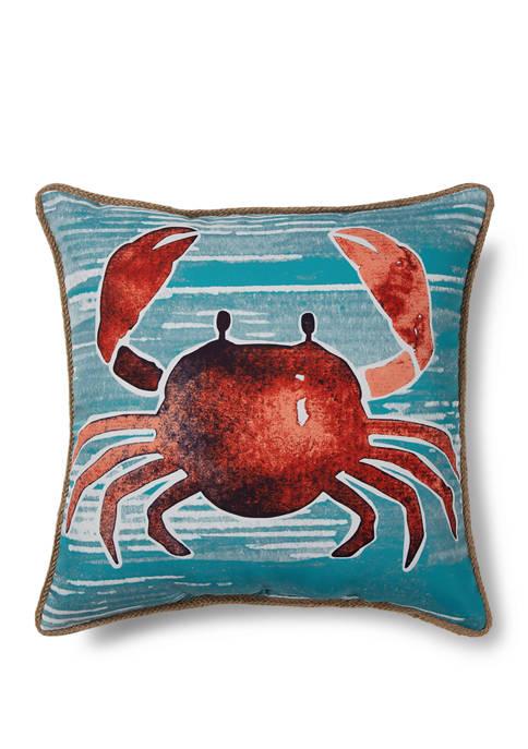 Red Crab Indoor/Outdoor Pillow