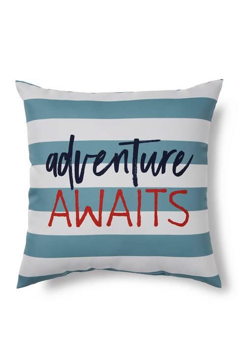Brentwood Originals Adventure Awaits Indoor/Outdoor Pillow