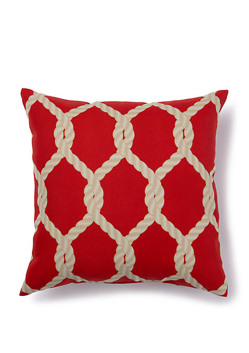 Rope Lattice Outdoor Pillow
