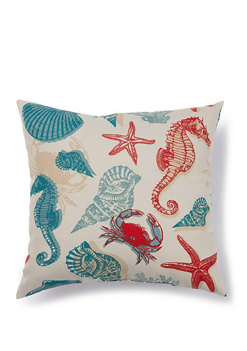 Seahorses Outdoor Pillow