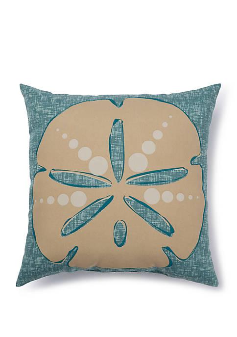 Brentwood Originals Sand Dollar Outdoor Pillow