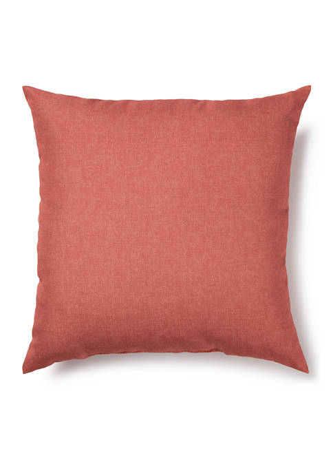 17 Inch Solid Coral Outdoor Pillow