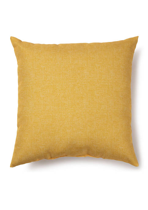 Solid Yellow Outdoor Pillow
