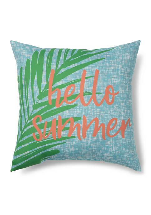 Hello Summer Indoor/Outdoor Pillow