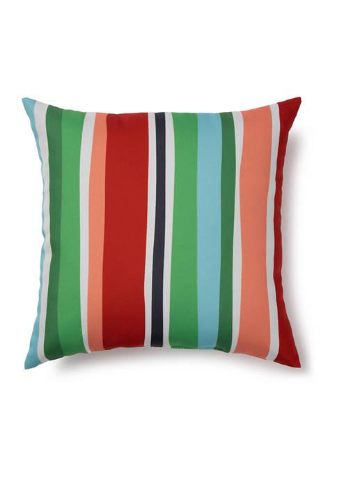 Brentwood Originals 17 Inch Flamingo Stripe Indoor/Outdoor Pillow