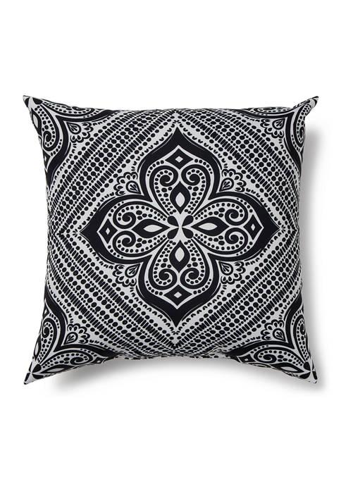 Black and White Medallion Throw Pillow