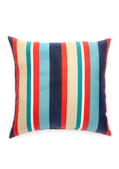 Brentwood Originals Lake Multi Striped Throw Pillow