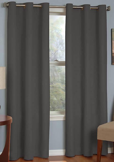 Microfiber Grommet Blackout Window Curtain Panel 52-in. x