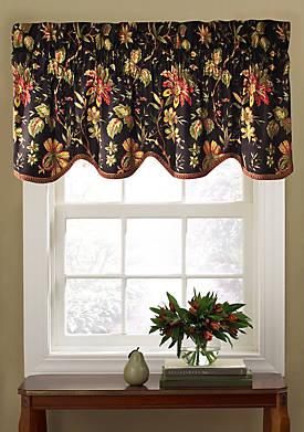 Felicite Noir Window Valance 50-in. x 15-in.