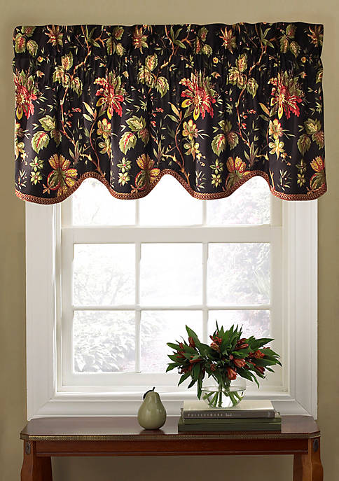 Waverly® Felicite Noir Window Valance 50-in. x 15-in.