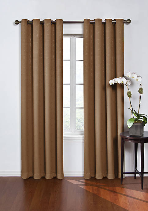 Round and Round Blackout Window Curtain Panel 52-in.