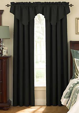Room-Darkening Rod Pocket Ascot Window Valance 42-in. x 18-in.