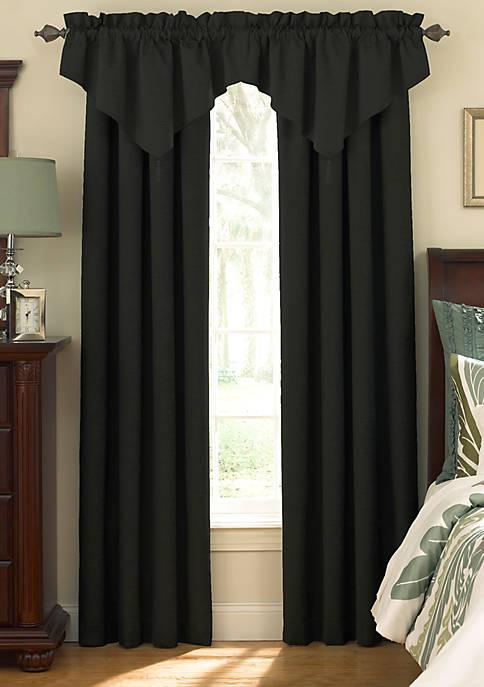 Room-Darkening Rod Pocket Ascot Window Valance 42-in. x