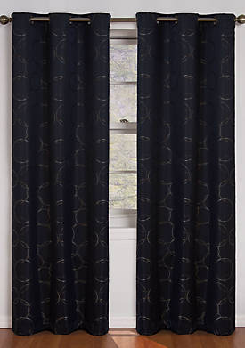 Black Meridian Blackout Window Curtain Panel