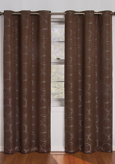 Chocolate Meridian Blackout Window Curtain Panel