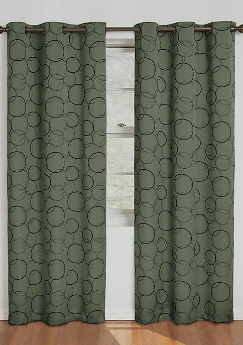 Sage Meridian Blackout Window Curtain Panel