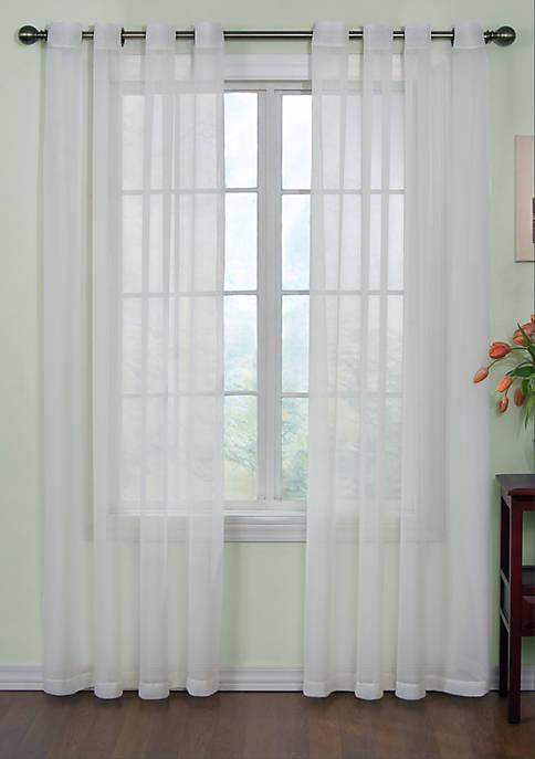 Odor-Neutralizing Sheer Voile Grommet Curtain Panel 59-in. x