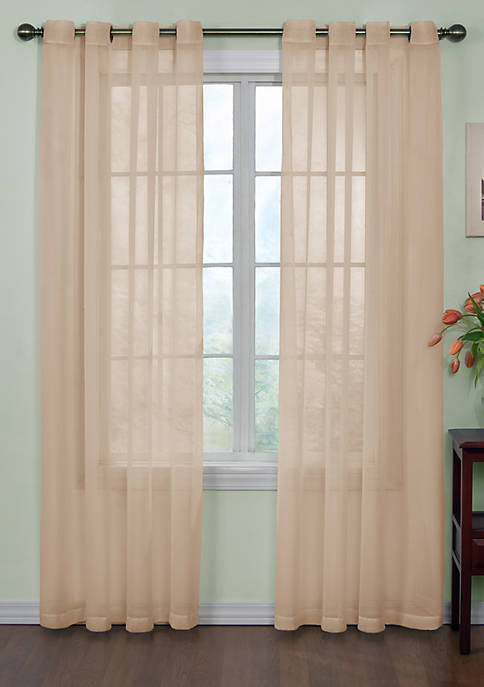 Odor-Neutralizing Sheer Voile Grommet Curtain Panel 59-in. x
