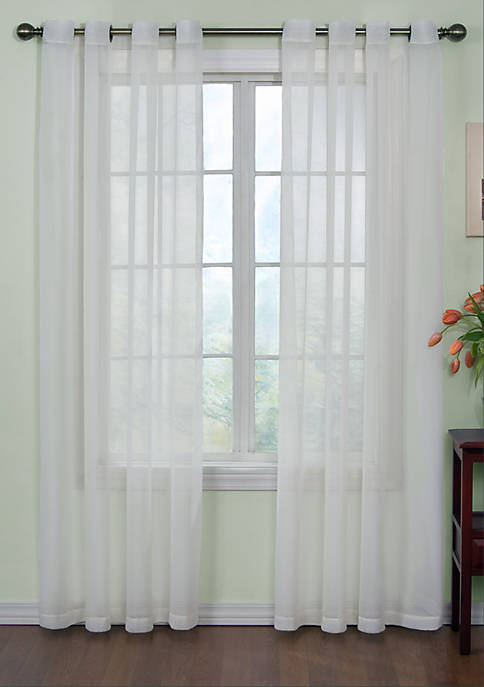 Odor-Neutralizing Sheer Voile Grommet Curtain Panel 59-in. x 95-in.