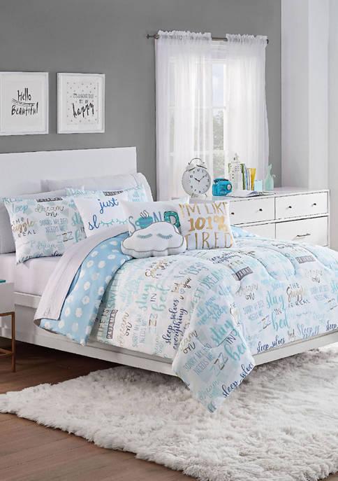Spree Lights Out Reversible Comforter Set