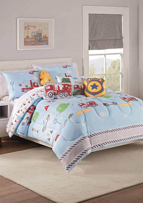 Kids Hero Squad Reversible Comforter Set