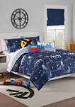 Kids All Aboard Reversible Comforter Set