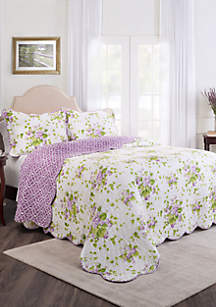 Waverly® Sweet Violets 3-Piece Bedspread Set