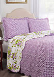 Sweet Violets 3-Piece Bedspread Set