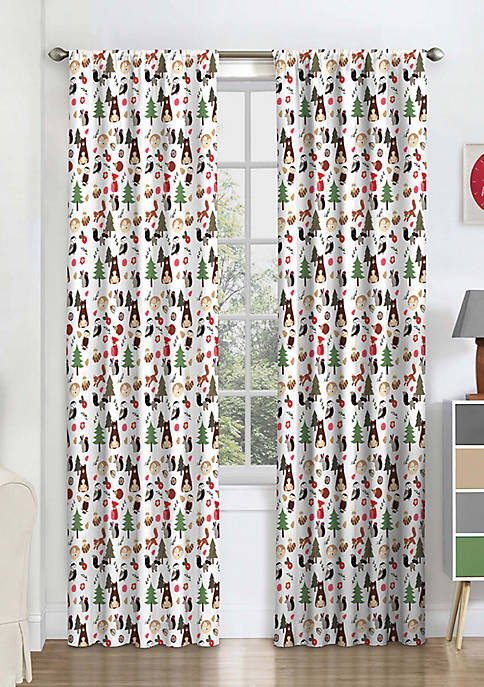 Eclipse™ Kids Forest Friends Blackout Window Curtain