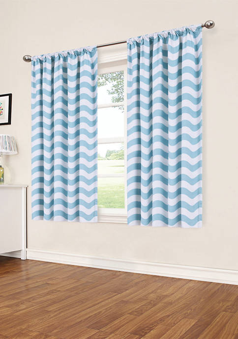 Eclipse™ My Scene Thermaback Blackout Wavy Chevron Curtain