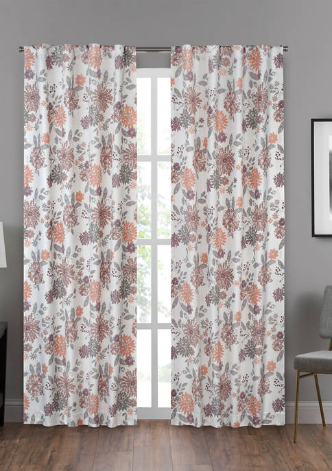 Eclipse Draft Stopper Summit Botanical Window Curtain Panel
