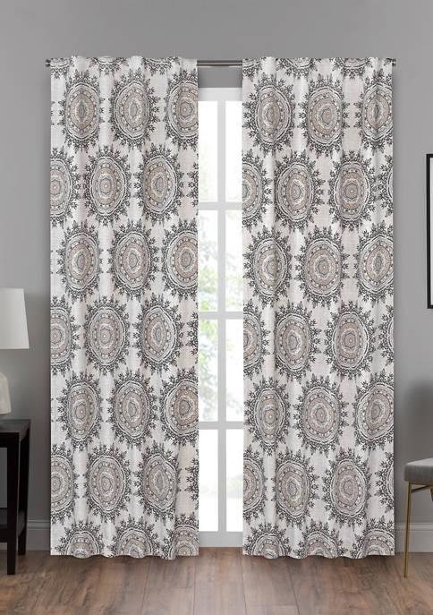 Eclipse Draft Stopper Summit Medallion Window Curtain Panel