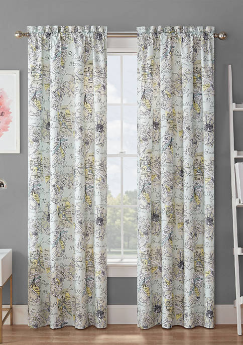 Waverly® Spree Mapped Out Blackout Window Curtain