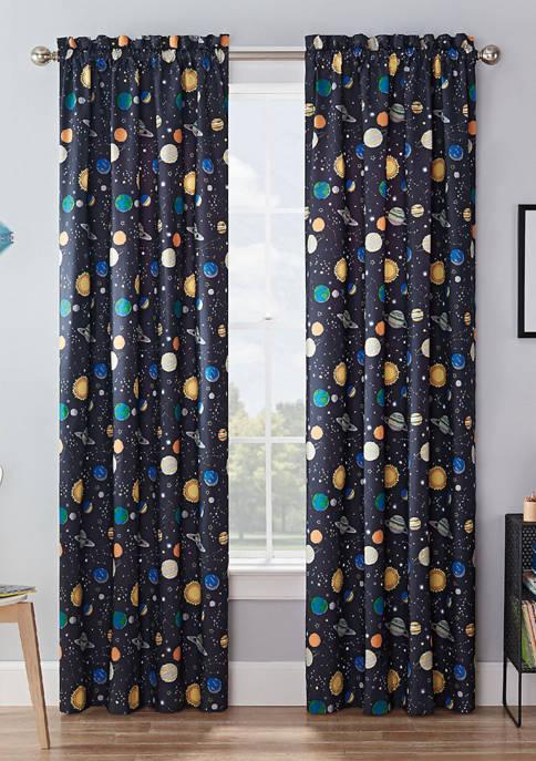 Absolute Zero® Kids Space Adventure Blackout Window Curtain