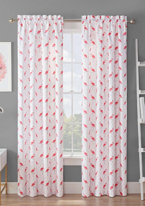 Waverly® Spree Flamingo Flock Blackout Window Curtain