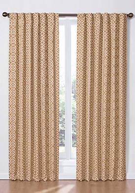 Lovely Lattice Window Curtain Panel 50-in. x 84-in.