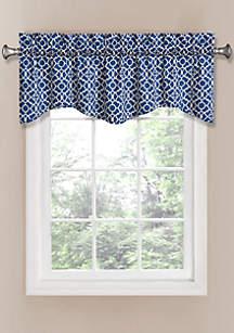 Lovely Lattice Window Curtain Panel and Valance