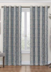 Nadya Print Thermalayer Curtain Blue