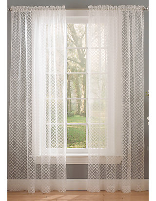Waverly Burnout Curtain Panel Online