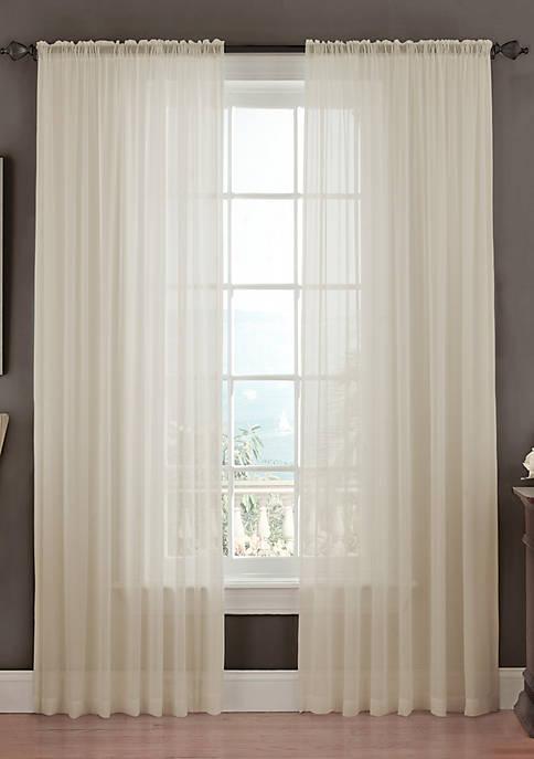 Textured Chiffon Window Panel 52-in.x 95-in.