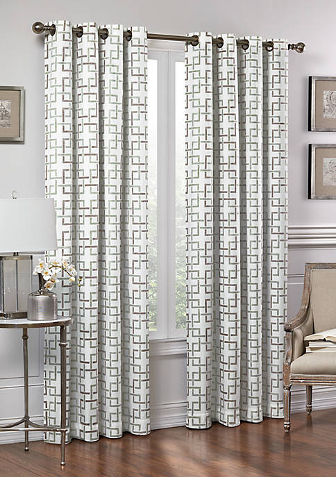Vue Signature Marley Trellis Fashion Window Drapery Panel