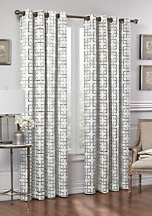 Vue Signature Marley Trellis Fashion Window Drapery Panel 52-in. x 63-in.