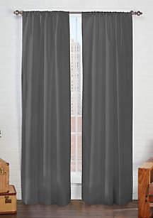 Solid Microfiber Curtain Panels
