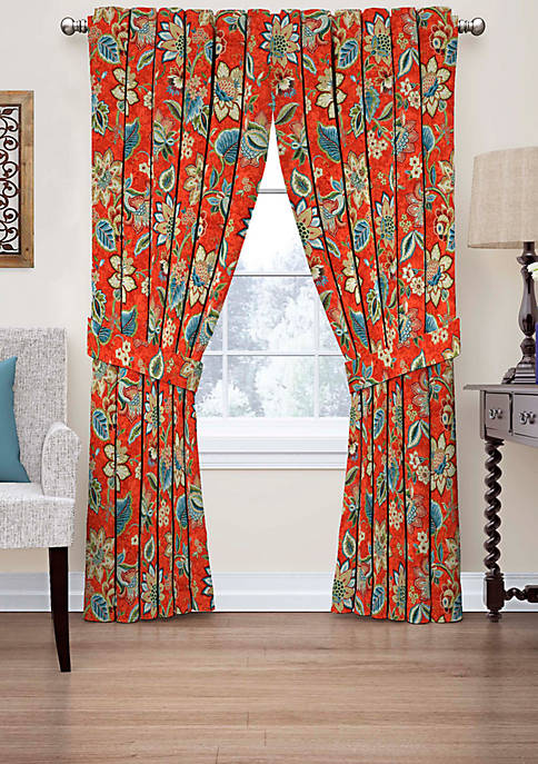Brighton Blossom Floral Window Curtain 52-in. x 84-in.