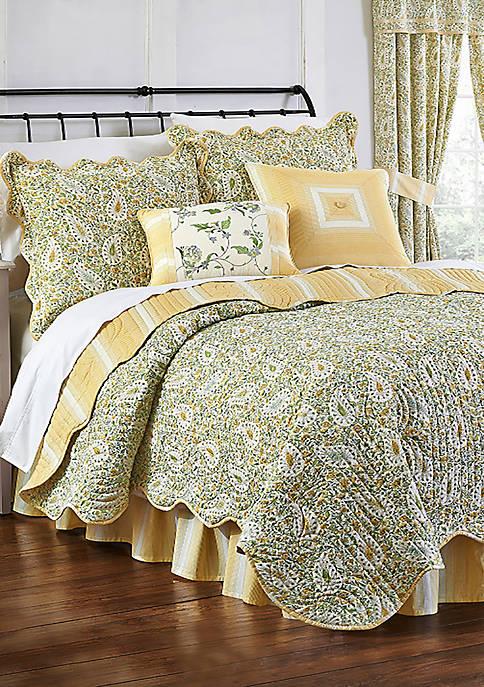 Waverly® Paisley Verveine Reversible Quilt Set